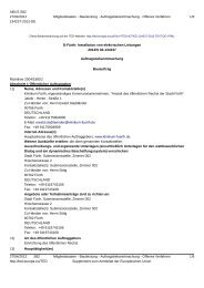D-Fürth: Installation von elektrischen Leitungen - Klinikum Fürth