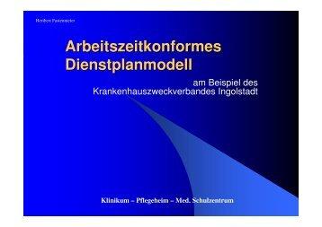 Arbeitszeit Dienstplanmodell - Klinikum Ingolstadt