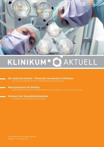 KlinikumAktuell 11 2007 - Klinikum Ingolstadt