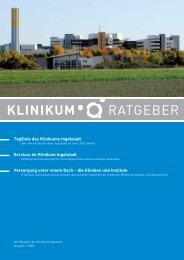 KlinikumRatgeber, Ausgabe 1 | 2009 - Klinikum Ingolstadt