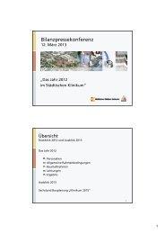 Bilanzpressekonferenz - Städtisches Klinikum Karlsruhe