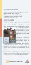Suchtmedizinische Ambulanz Klinik für Psychiatrie und ...