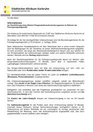 TO-MV-055/A - Städtisches Klinikum Karlsruhe