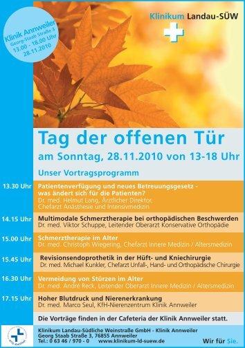 Download Programm Tag der offenen Tür - Klinikum Landau