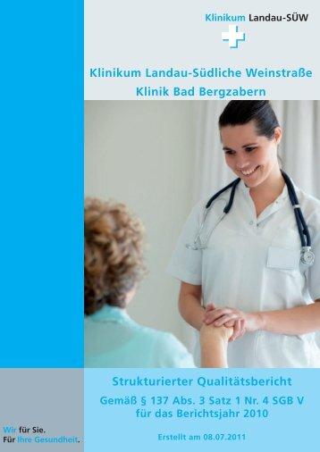 Klinikum Landau-Südliche Weinstraße Klinik Bad Bergzabern ... - KTQ