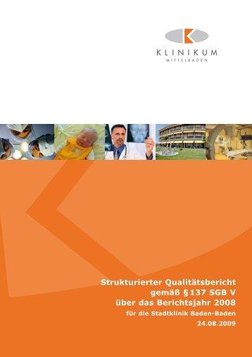 Strukturierter Qualitätsbericht 2008 - Klinikum Mittelbaden gGmbH