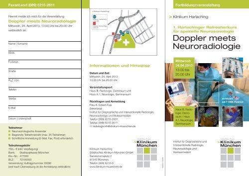 Doppler Meets Neuroradiologie Städtisches Klinikum München