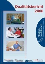 Qualitäts bericht 2006 - Klinikum Nordfriesland
