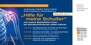 """""""Hilfe für meine Schulter"""" - Städtisches Klinikum München"""