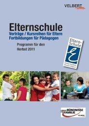 Allgemeines Programm der Elternschule Velbert Herbst 2011 [4