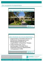 Die Navigierte Knieprothese - Klinikum Niederberg