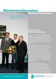 Abschied von Dr. Bender - Klinikum Niederberg