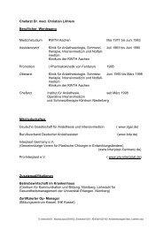 Chefarzt Dr. med. Christian Löhlein Beruflicher Werdegang ...