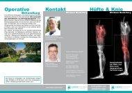 Kontakt Hüfte & Knie Operative - Klinikum Niederberg