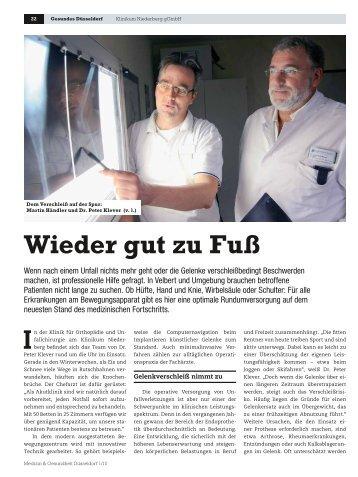 Wieder gut zu Fuß - Klinikum Niederberg