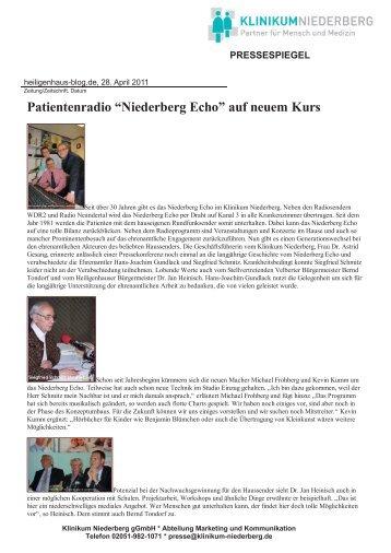 PRESSESPIEGEL - Klinikum Niederberg