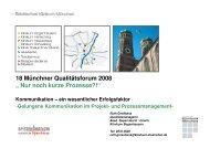 """18 Münchner Qualitätsforum 2008 """" Nur noch kurze Prozesse?!"""""""