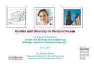 Gender und Diversity im Personalwesen - Städtisches Klinikum München