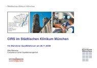 Wie funktioniert CIRS im StKM? - Städtisches Klinikum München