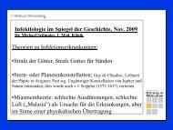 Infektiologie im Spiegel der Geschichte, Nov. 2009 - Städtisches ...