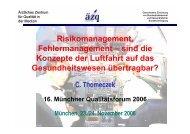 Risikomanagement, Fehlermanagement – sind die Konzepte der ...