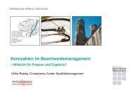 Kennzahlen im Beschwerdemanagement - Städtisches Klinikum München