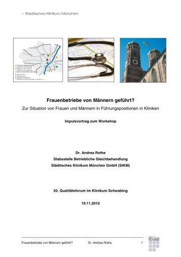 Frauenbetriebe von Männern geführt? - Städtisches Klinikum München