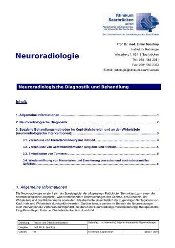 Info Neuroradiologie - Klinikum Saarbrücken