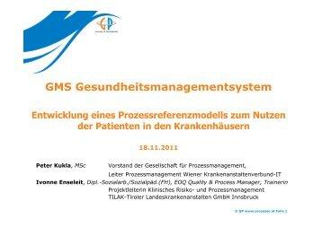 GMS-Gesundheitsmanagementsystem - Entwicklung eines ...