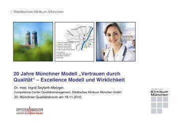 """20 Jahre Münchner Modell """"Vertrauen durch Qualität"""" – Excellence ..."""