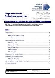 Hypnose beim Reizdarmsyndrom - Klinikum Saarbrücken