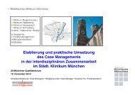 Etablierung und praktische Umsetzung des Case Managements in der ...