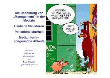 """Die Bedeutung von """"Management"""" in der Medizin Bauliche Strukturen ..."""