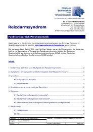 Reizdarmsyndrom - Klinikum Saarbrücken