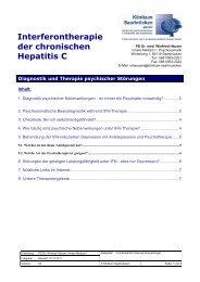 Interferontherapie der chronischen Hepatitis C - Klinikum Saarbrücken