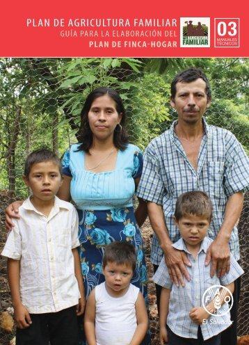 laboración del plan de finca-hogar - PESA Centroamérica