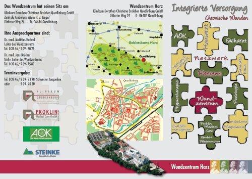 """Flyer """"Wundzentrum Harz"""" - Klinikum Quedlinburg"""