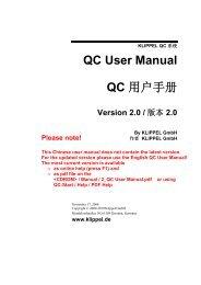 QC User Manual QC 用户手册 - Klippel GmbH