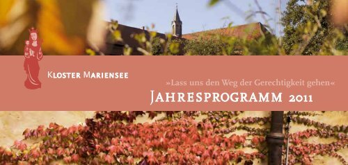 JAHRESPROGRAMM 2011 - Kloster Mariensee