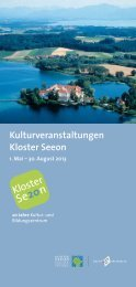 Kulturprogramm Mai-August - Kloster Seeon