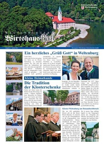 Die Tradition der Klosterschenke - Klosterschenke Weltenburg