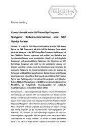 Klumpp Informatik neu im SAP PartnerEdge Programm