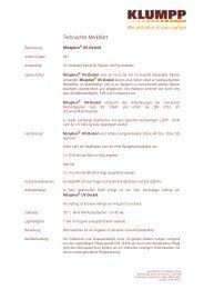 Technisches Merkblatt - Klumpp Coatings