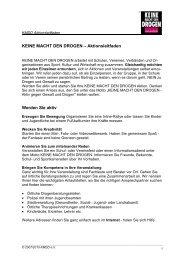 KMDD Aktionsleitfaden - Keine Macht den Drogen
