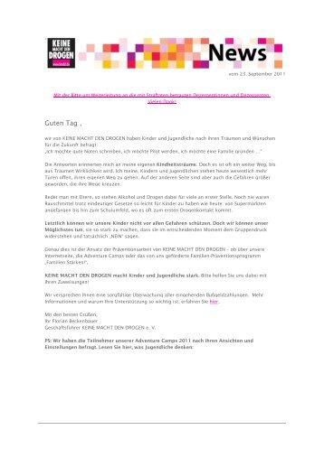 Bußgeld-Newsletter 04-2011 - Keine Macht den Drogen