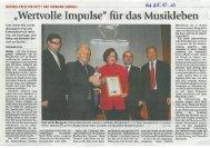 KMS-Daphnis-Verleihung an Betty und Hermann Simmerl