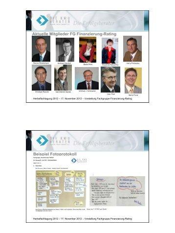 Aktuelle Mitglieder FG Finanzierung-Rating ... - Die KMU-Berater