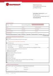 Aufnahmeantrag in die freiwillige Kranken- und ... - Knappschaft