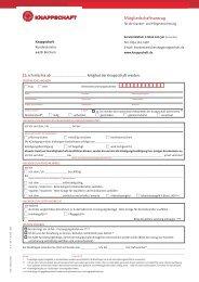 Mitgliedschaftsantrag für die Kranken- und ... - Knappschaft