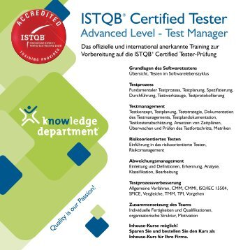 ISTQB® Certified Tester - Knowledge Department